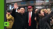 Trump et Kim Jong-un, meilleurs potes ? On pourrait le croire à voir ces deux sosies à Séoul