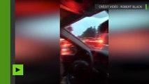 Un train déraille et tombe sur une autoroute dans l'Etat de Washington, plusieurs morts