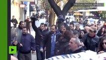 Heurts violents entre policiers et manifestants en Grèce