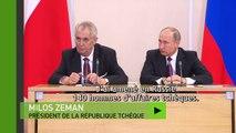«La Russie 10 fois plus importante que la France» : visitant Poutine, le président tchèque ironise