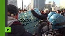 Milan : des heurts éclatent lors d'une manifestation contre la réforme de l'éducation