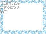 Samsung Galaxy S7 Edge Housse Étui Protection Coque Fleurs Fleurs Or