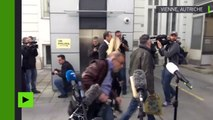 Le chancelier autrichien Christian Kern arrive pour voter aux législatives