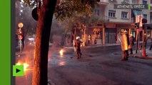 Violentes échauffourées entre manifestants de gauche et policiers à Athènes