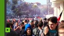 Nantes : dispersion au gaz lacrymogène de la manifestation contre la réforme du Code du travail