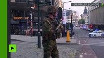 Le quartier bouclé après l'explosion à la gare de Bruxelles