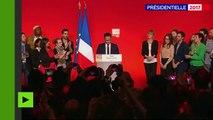 Hamon reconnaît une «sanction historique» contre le Parti socialiste