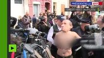 Des militantes Femen ont tenté de perturber le vote de Marine Le Pen à Hénin-Beaumont