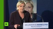 Le Pen sur l'attentat des Champs-Elysées : «Cette guerre nous est menée sans pitié et sans répit»