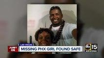 Missing Phoenix child found safe in Las Vegas