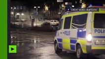 Stockholm : après une nuit de violence, des voitures carbonisées et des éclats de verre