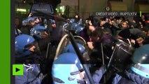 Milan : violents heurts entre antifascistes et la police