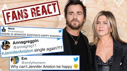 Jennifer Aniston & Justin Theroux Split : Fans React | Was Brad Pitt The Reason?
