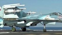 Syrie : des avions russes réalisent des bombardements depuis le porte-avion Amiral Kouznetsov