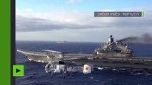 Les avions russes perfectionnent le décollage et l'appontage sur le porte-avion Amiral Kuznetsov