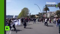 Naples célèbre l'arrivée du Premier ministre avec des heurts violents