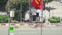 Les premières images de l'attentat en Indonésie