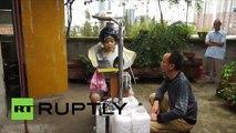 Un chinois créatif présente son «lave-cheveux» automatique après 16 ans d'expérimentations