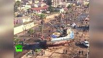 Séisme au Chili : images aériennes des conséquences du tsunami