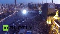Liban : des drones survolent la manifestation «Vous Puez» à Beyrouth