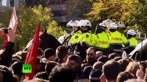 Manifestations en Australie : les policiers australiens utilisent du gaz au poivre