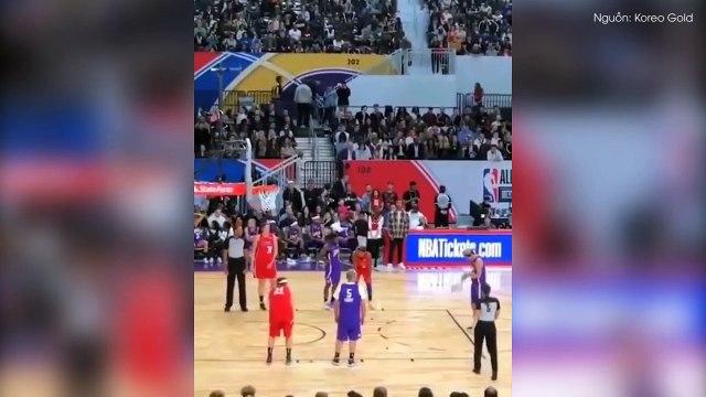 Fan không thể tin nổi trước cảnh tượng Justin Bieber và Ngô Diệc Phàm cùng nhau thi đấu bóng rổ
