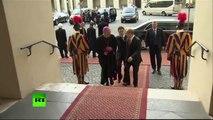 Vladimir Poutine a rencontré le Souverain pontife, sur fond de tensions occidentales