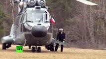 Seyne-les-Alpes : l'arrivée de François Hollande et d'Angela Merkel sur les lieux du crash