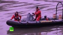 Nucléaire : une action de Greenpeace rappelle Hollande à ses promesses