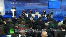 Vladimir Poutine au sommet du club international Valdaï: le discours intégral