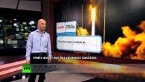 Explosion de la fusée américaine et décollage de la fusée russe: les réseaux sociaux s'enflamment