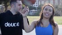 Basketball Trickster Jesse LeBeau Teaches Britt How to Hoop   Press Pass with Britt Johnson