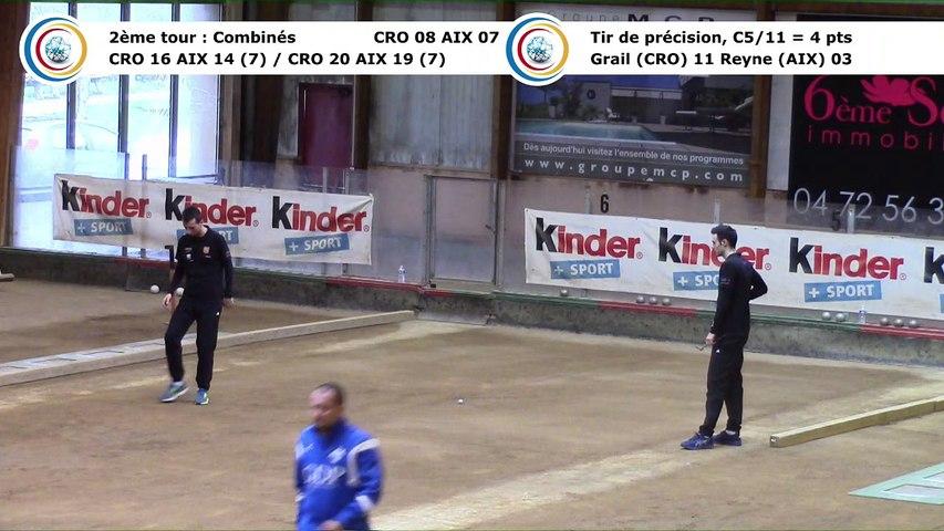 Second tour, second tir de précision, Club Elite Masculin, J10, CRO Lyon contre Aix-les-Bains, saison 2017-2018