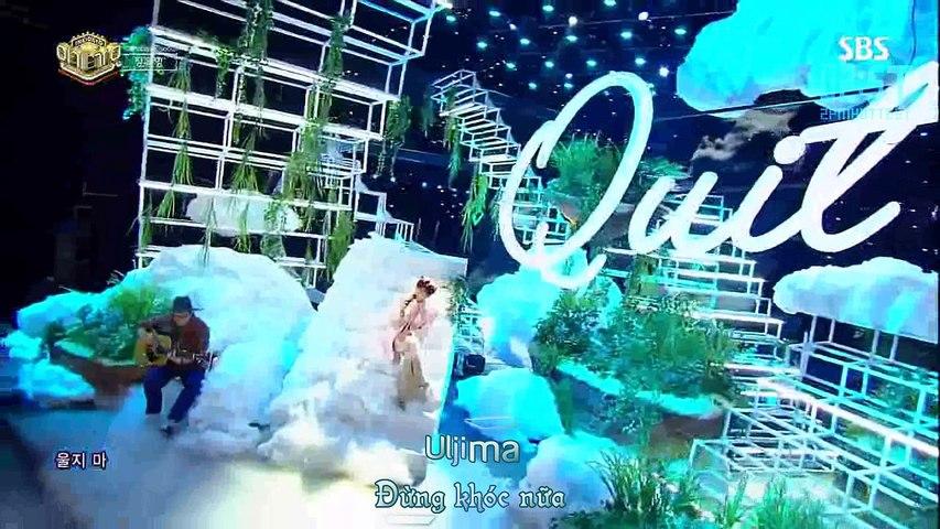 [Vietsub + Kara - 2ST] [180121] Don't Cry [Quit] - Wooyung @ Inkigayo