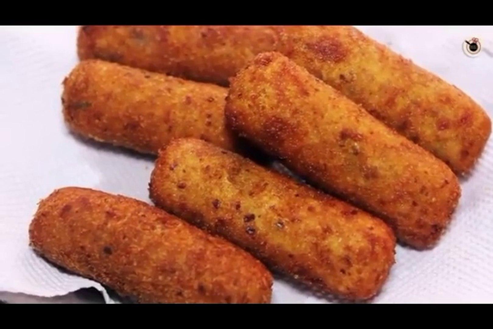 Paneer Croquettes Recipe _ Vegetarian Appetizer Recipe