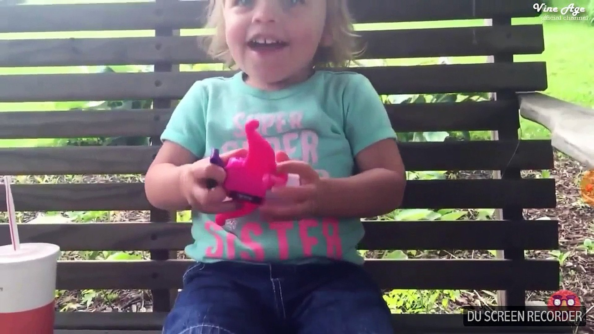 Cute baby funny video