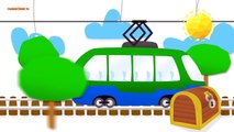 Kids Story | Cartoons. Cartoons About Cars. Truck, Bus, Airplane. Developing A Cartoon For Children