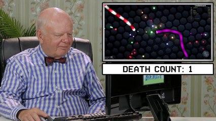 elders play slither io elders react gaming
