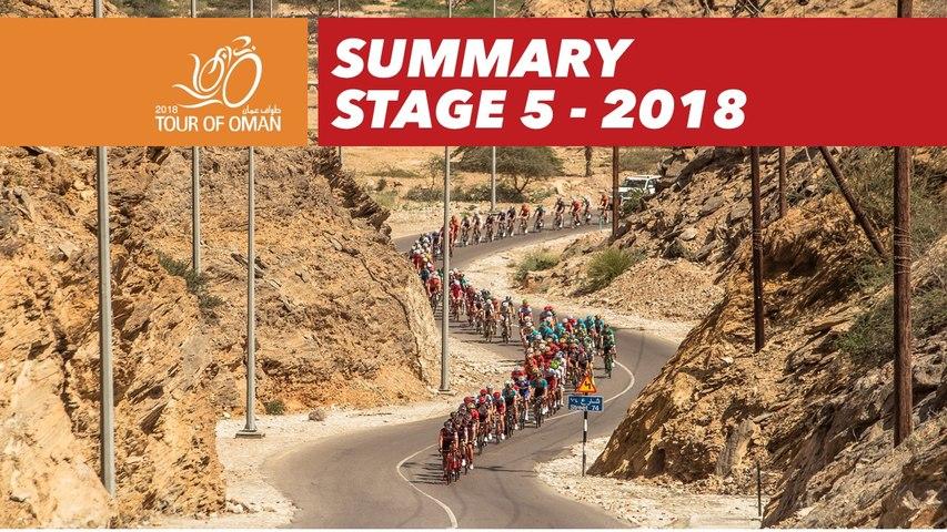Last kilometer - Stage 5 - Tour of Oman 2018