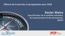 Journée GPEEC du 11/12/2017 : Clôture de la journée et perspectives pour 2018 par Xavier Maire