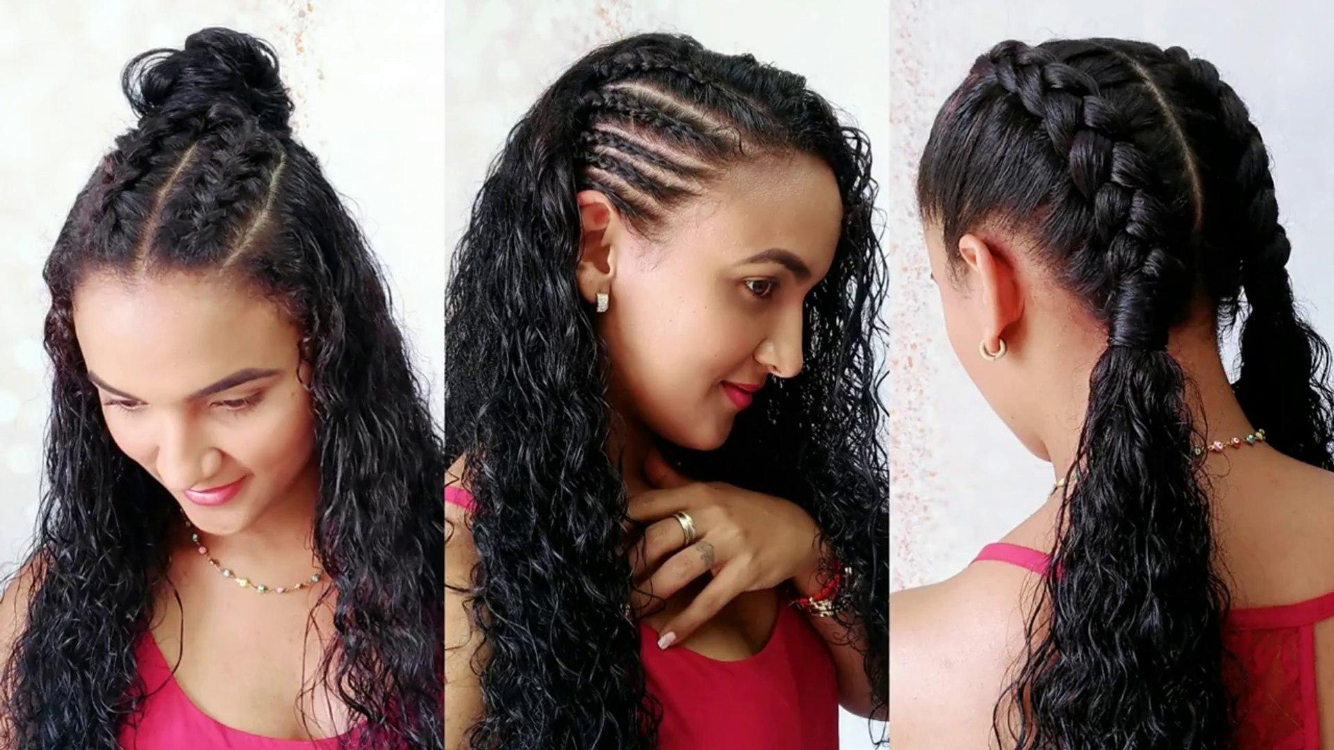 Peinados Deportivos En Cabello Rizado Sporty Hairstyles Pelo Chino