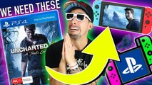 5 PS4 GAMES WE NEED ON THE NINTENDO SWITCH | PLAYSTATION 4 GAMES THE SWITCH MUST