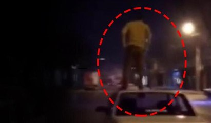 Trafik magandasının ölüm oyunu... Marifetmiş gibi sosyal medyada paylaştı