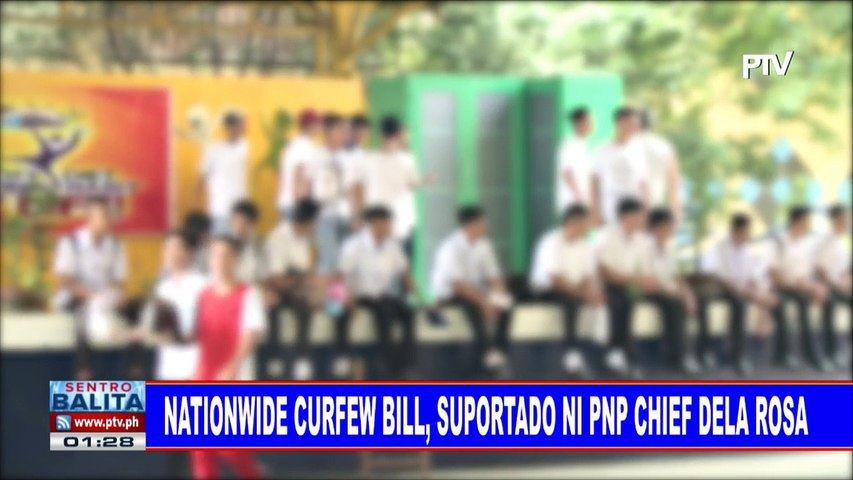 Nationwide curfew bill, suportado ni PNP Chief Dela Rosa