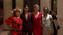 Designers and models arrive for London Fashion Week