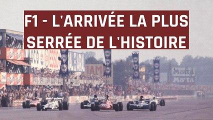 L'arrivée la plus serrée de l'Histoire de la F1