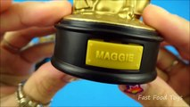 BURGER KING THE SIMPSONS MOVIE COMPLETE SET OF 15 TALKING GOLD STATUES KIDS MEAL TOYS REVIEW 2007
