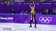Figure skater Gabriella Papadakis flashes nipple after suffering wardrobe malfunction during Winter Olympics ice dance