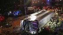 18 dead in overturned bus in Hong Kong