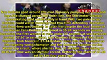 Olympics 2018_ Japan's Kodaira wins Olympic 500 over South Korea's Lee